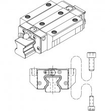 Prowadnice liniowe PMI, seria MSR, typ MSR-E / MSR-LE