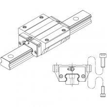 Prowadnice liniowe kulkowe z łańcuchem, seria SME, typ SME-EA / SME-LEA