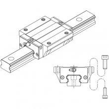Prowadnice liniowe kulkowe z łańcuchem, seria SME, typ SME-EB / SME-LEB