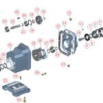 Części zamienne do motoreduktorów walcowych CHC