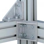 Wsporniki kątowe do serii 50 profili aluminiowych